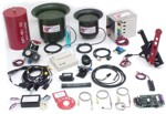 DYNO-mite Dynamometer accessories array, including: temperature sensors, flow transducers, etc.