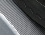 "Machined-in ""traction grooves"" provide more traction (but less"